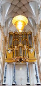 Binnenkomst kerk panorama